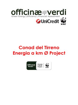 Conad del Tirreno Energia a km Ø Project