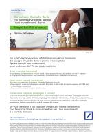 Consulenza Deutsche Bank. Fai la mossa vincente: sposta i tuoi