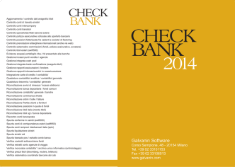 CHECK BANK - Galvanin Software