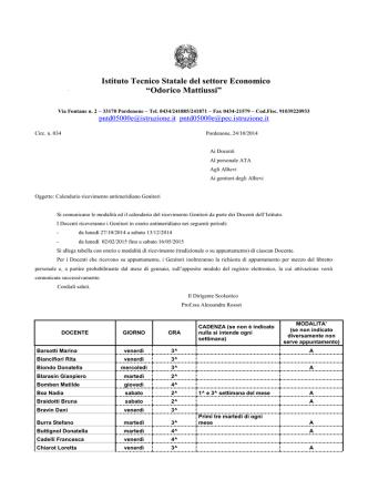 circolare n.34 - ITC Odorico Mattiussi