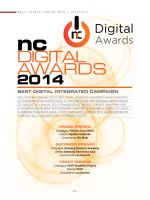 NC DIGITAL AWARDS 2014 Tabellone finale