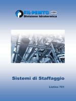 listino sistemi di staffaggio - Azienda FIL