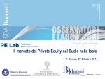 Il mercato del Private Equity nel Sud e nelle Isole