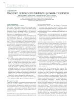 Capitolo 4: Procedure ed interventi riabilitativi generali e
