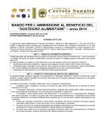 Bando 2014 - Comune di Cerreto Sannita
