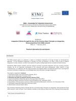 KING Workshop - 6-7 Feb 2014 - Fondazione Ismu