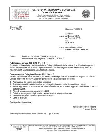 collegio docenti - Istituto Stradivari