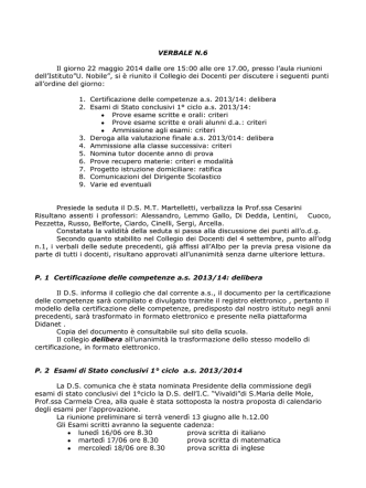 6 Verbale CdD 22 Maggio 2014 - Scuola Media Statale Umberto