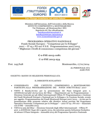 bando ATA PON Piano Integrato C1 C2 2013