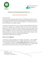 ISCRIZIONI AI CORSI BLUE KIDS GOLF ANNO 2014 Sezione