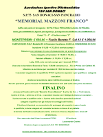 """MEMORIAL MAZZONI FRANCO"" MONTEPREMI"