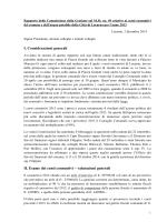 I. Considerazioni generali II. Esame dei conti consuntivi
