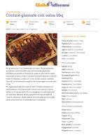 Ricetta Costine glassate con salsa bbq