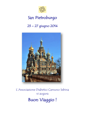 Brochure del Tour a San Pietroburgo