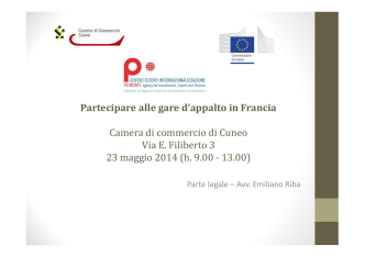 (Microsoft PowerPoint - Slides Appalti Francia Cuneo 23.5.2014.ppt