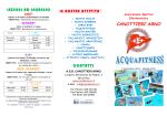 volantino relativo ai corsi di acquafitness 2014