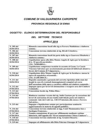 COMUNE DI VALGUARNERA CAROPEPE