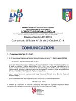 Comunicato Ufficiale n. 24