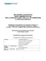 Relazione illustrativa sulla proposta di delega ex art. 2443 c.c. ad