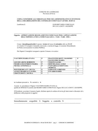 cc n. 49 IUC regolamento (TARI - TASI - IMU)