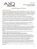 Condizioni Generali di Vendita