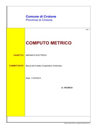 COMPUTO METRICO - Level Complete BANCA DEL CROTONESE