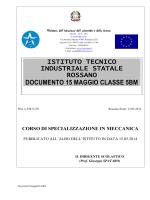 Documento 15 Maggio 2014 - Istituto Tecnico Industriale Statale