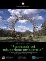 Prov. Trento: ATTI convegno paesaggio ed educazione