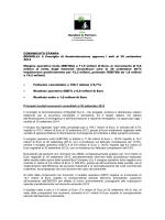 COMUNICATO STAMPA BEGHELLI: il Consiglio di Amministrazione