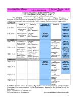 1 Università degli Studi di Bologna C.d.L. in Infermieristica Campus