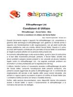 Accetto le Condizioni di Utilizzo - eShopManager, the Social Seller
