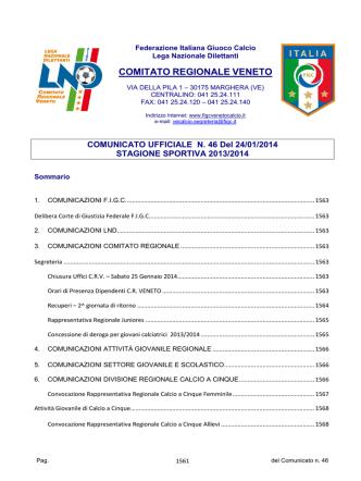 Com_N46_Unico - F.I.G.C. Veneto