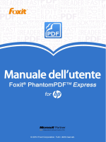 Foxit PhantomPDF Express for HP_Manuale dell