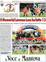Il Memorial Lorenzo leso ha fatto 13!