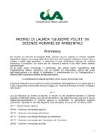 """PREMIO DI LAUREA """"GIUSEPPE POLITI"""""""