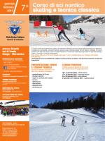 Corso di sci nordico skating e tecnica classica