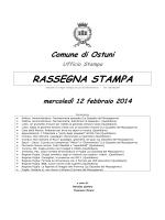 RASSEGNA STAMPA - Comune di Ostuni