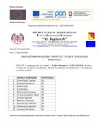 GRADUATORIA Provvisoria CORSISTI FSE PON C1