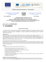 Programma Operativo Nazionale CCI – 2007IT051PO007