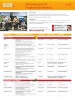 Messeprogramm Programma fieristico 2015
