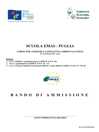 bando_EMAS_2014_ REV 05 - Club Emas ed Ecolabel Puglia