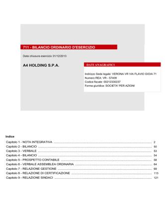 A4 - bilancio 2013 - Camera di Commercio di Padova