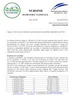 pensionamenti 2014 - Nursind