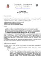 LICEO STATALE SCIPIONE MAFFEI A.S. 2014/2015 Progetto