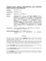 VERBALE DELLA SEDUTA STRAORDINARIA DEL