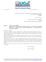 2014 Piano ferie estivo PRAP - richiesta di attivazione CAR