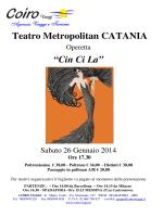 """Teatro Metropolitan CATANIA """"Cin Ci La"""""""