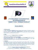 Regolamento 4° Concorso Fotografico 08-12