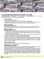 CALCESTRUZZO PRATICO LECA CLS 1600