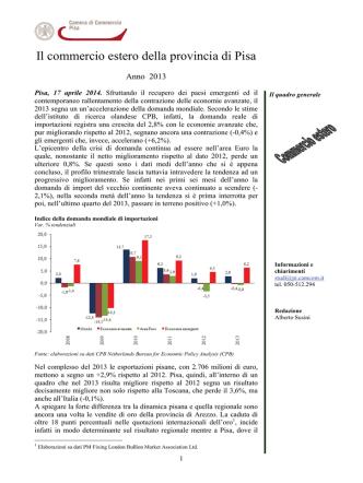 Anno 2013 - Camera di commercio di Pisa